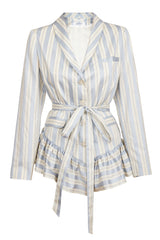LIGHT BLUE & CRÈME STRIPE JACKET