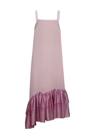 LIGHT PINK CHIFFON SLIP DRESS