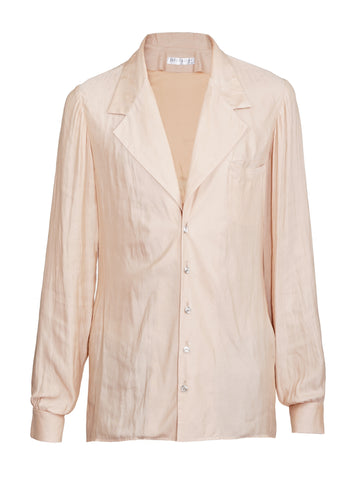 NUDE SILK SHIRT
