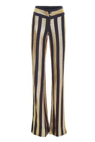 BLACK/GOLD TROUSERS