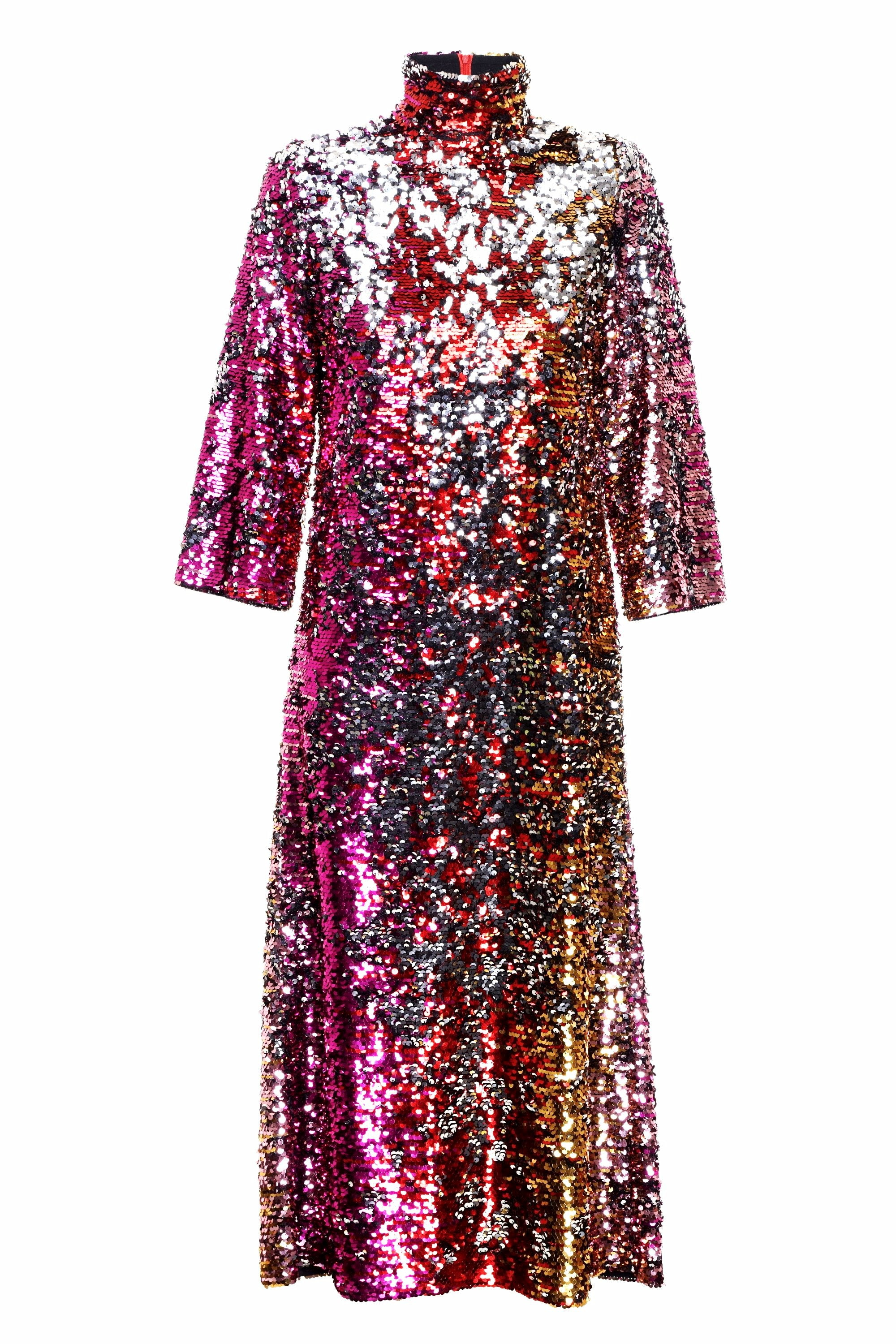 REVERSIBLE SEQUIN DRESS