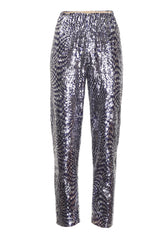 BLUE SEQUINS TROUSERS