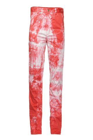 RED FADED JEANS