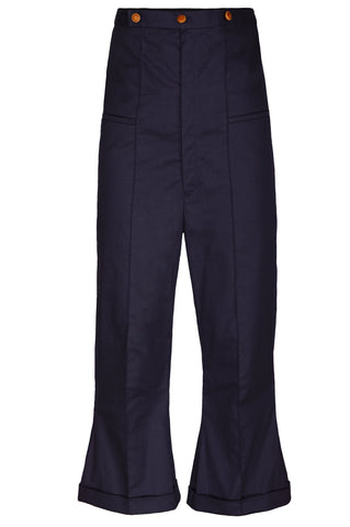 HIGH WAIST CROPPED & FLARED TROUSERS