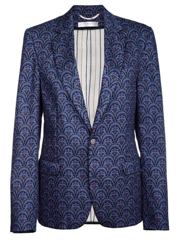 BLUE VINTAGE PATTERN JACKET