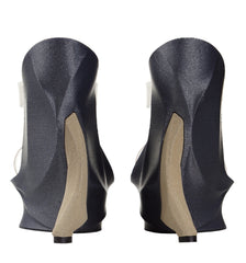 GREY & CHAMPAGNE 3D PRINT SHOES WITH PVC STRAPS