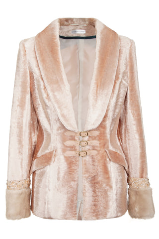 FAUX-FUR PINK COAT