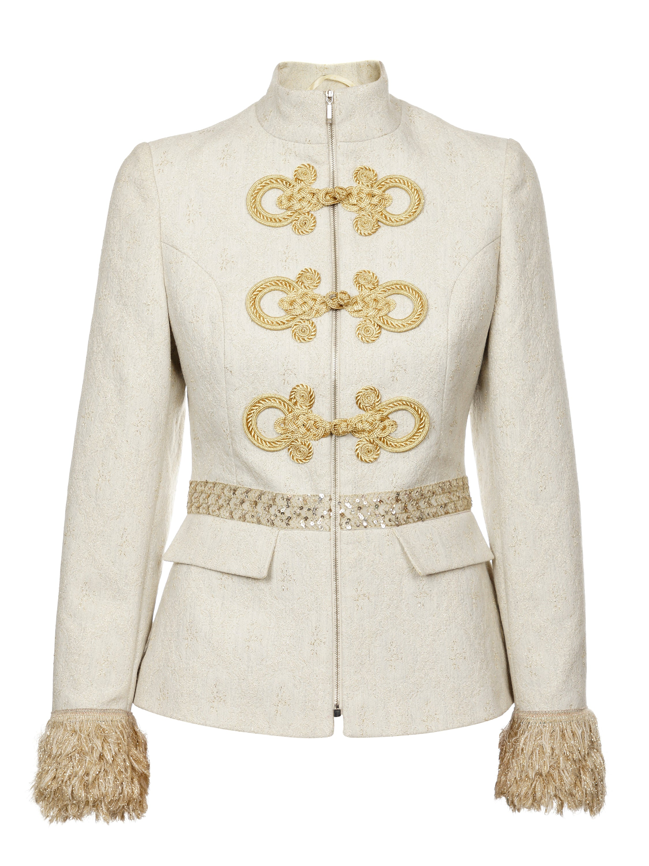 GOLD & WHITE OFFICER JACKET