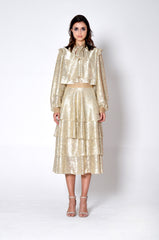 MULTI-LAYERED GOLD DRESS