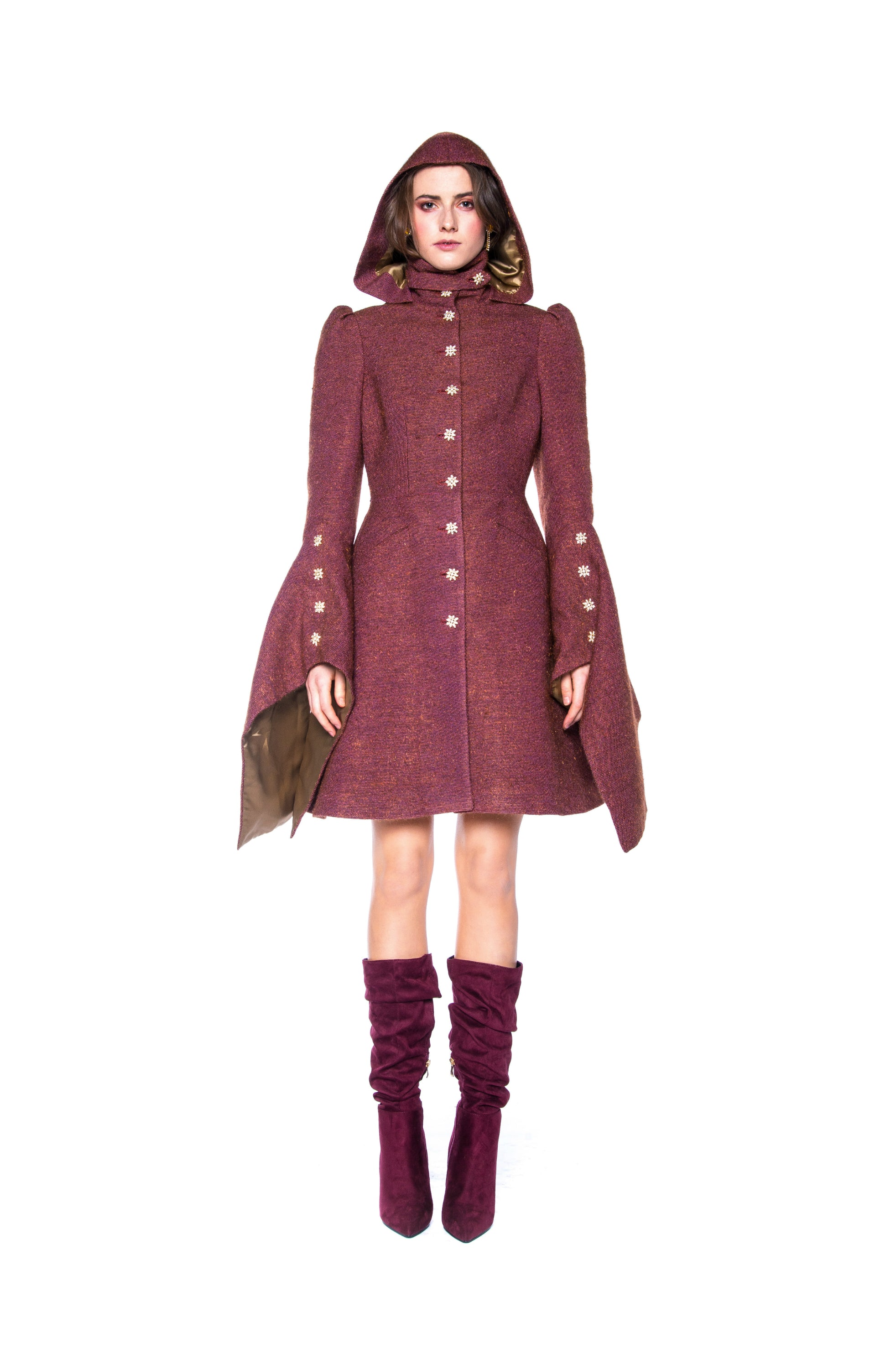 BRICK FOREST COAT WITH HOOD
