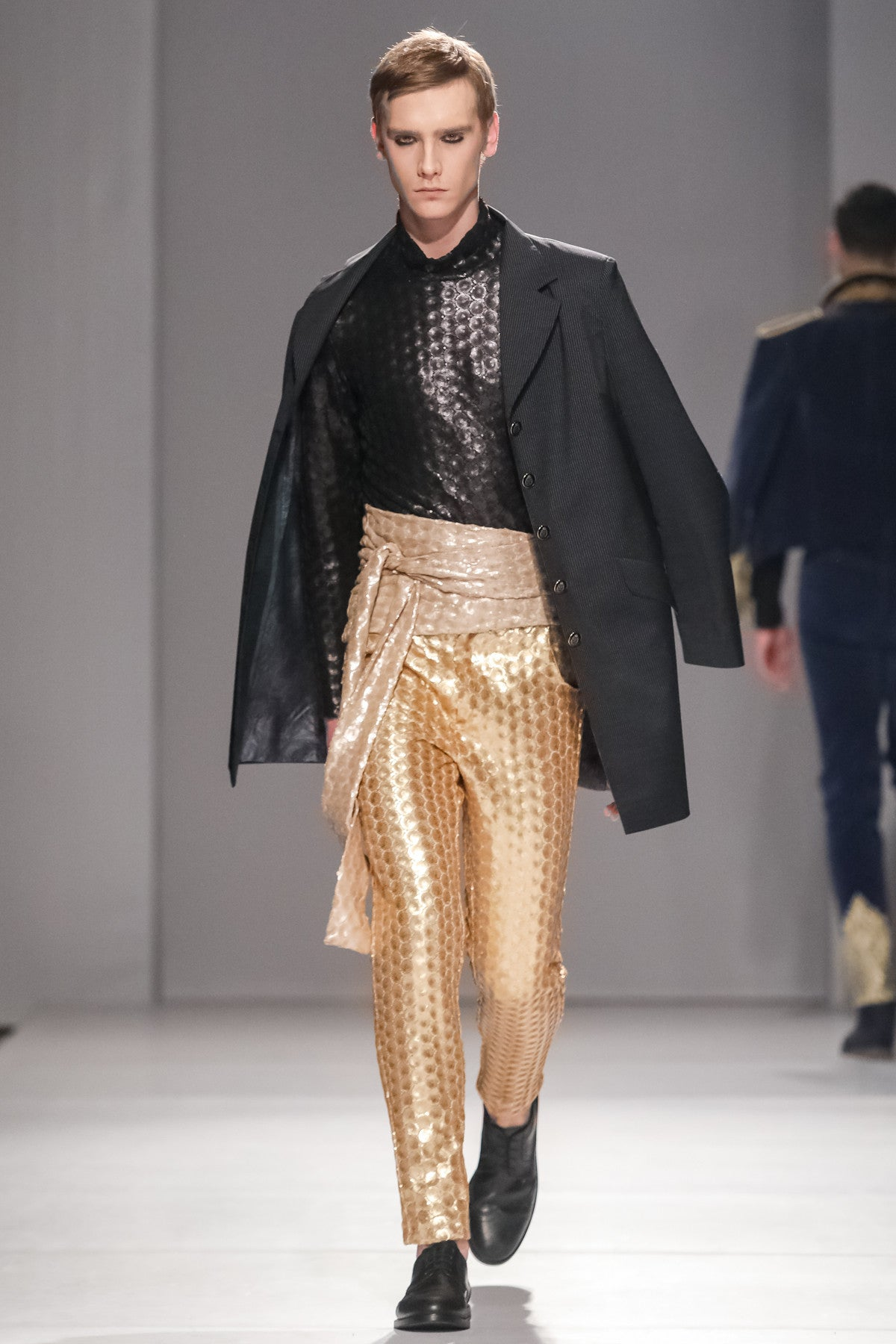 GOLD SEQUIN TROUSERS