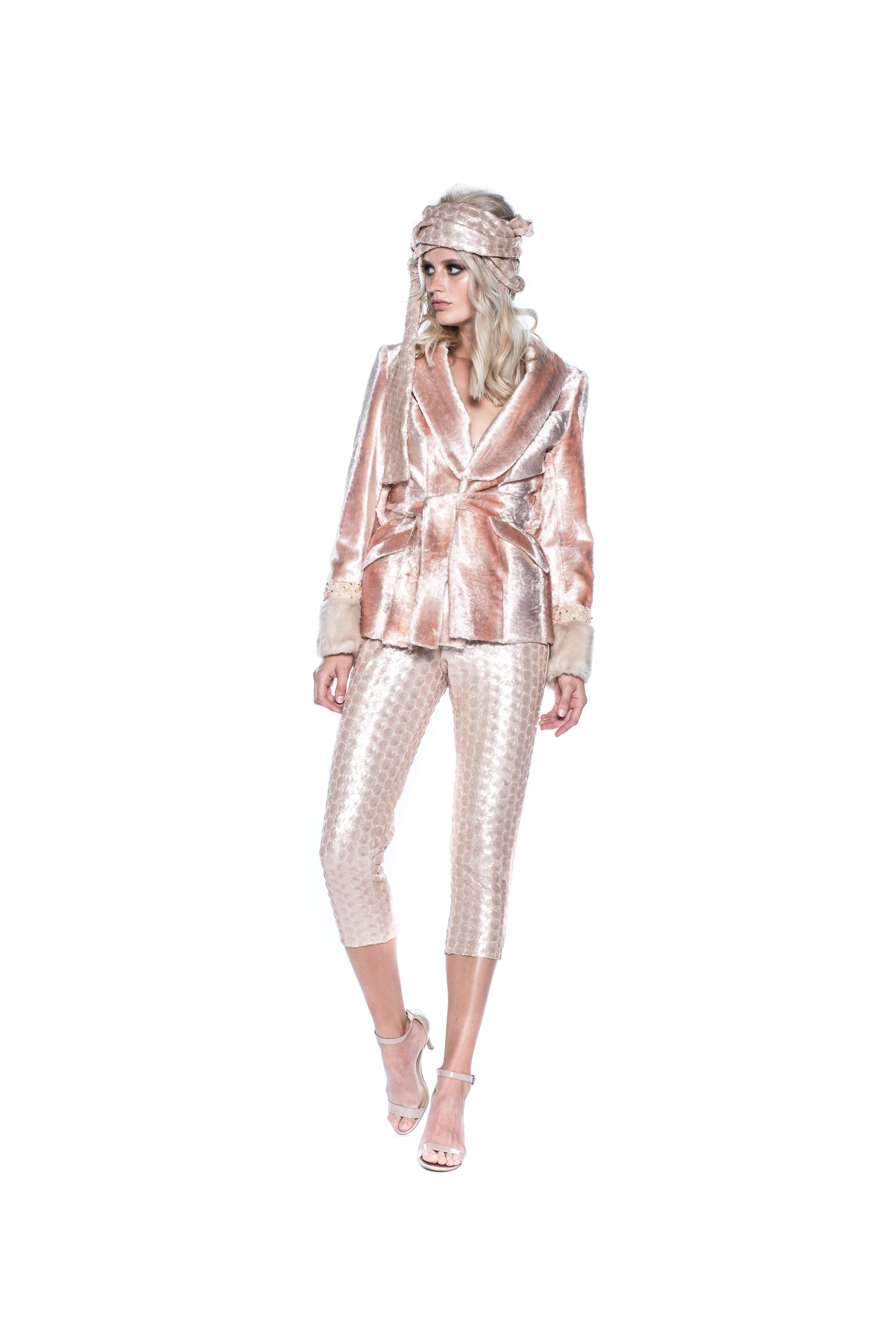 PINK SEQUIN TROUSERS