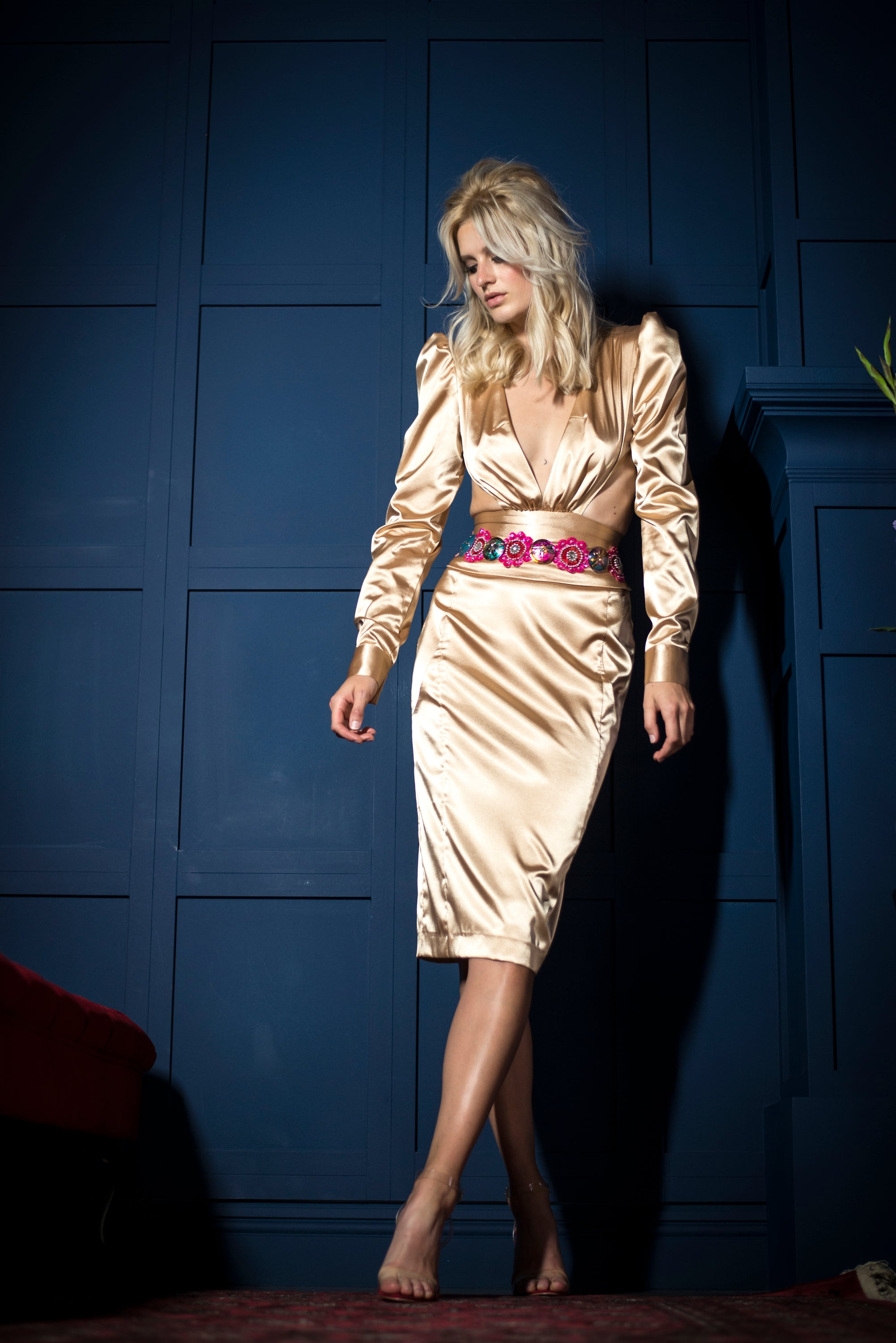 GOLDEN SILK DRESS
