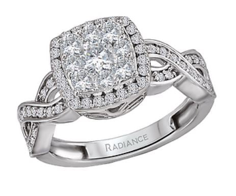 14kt White Gold Engagement Ring