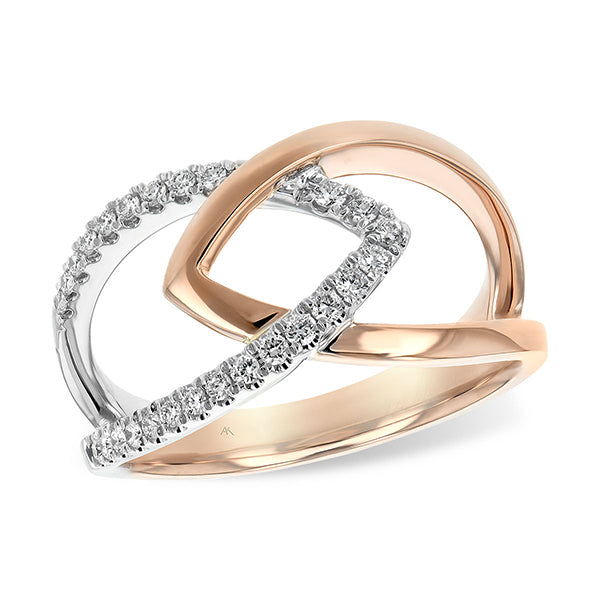 14KT Rose and White Gold