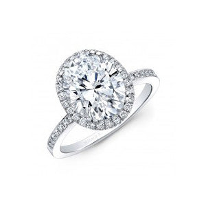 18kt White Gold Oval Engagement Ring