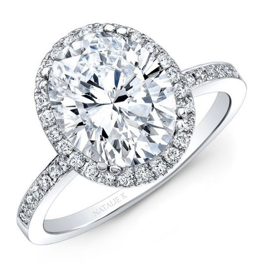 2436ace3e16ac Oval Halo Engagement Ring