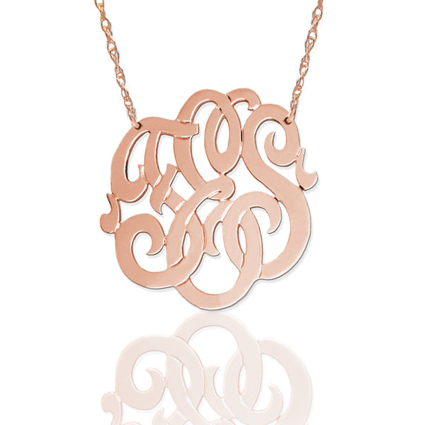 Beautiful Hand Cut 3 initial Freeform Script Monogram