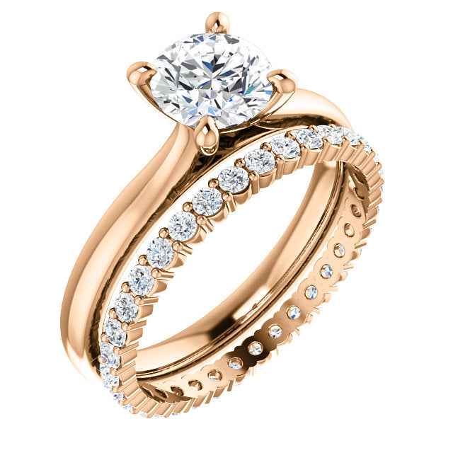 Rose Gold Solitaire Engagement Ring Mounting