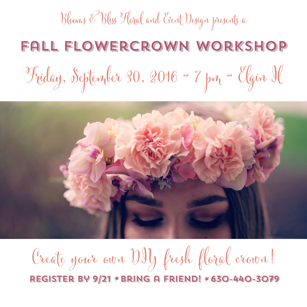 Fall 2016 Blooms & Bliss Floral Bee--a Flowercrown workshop