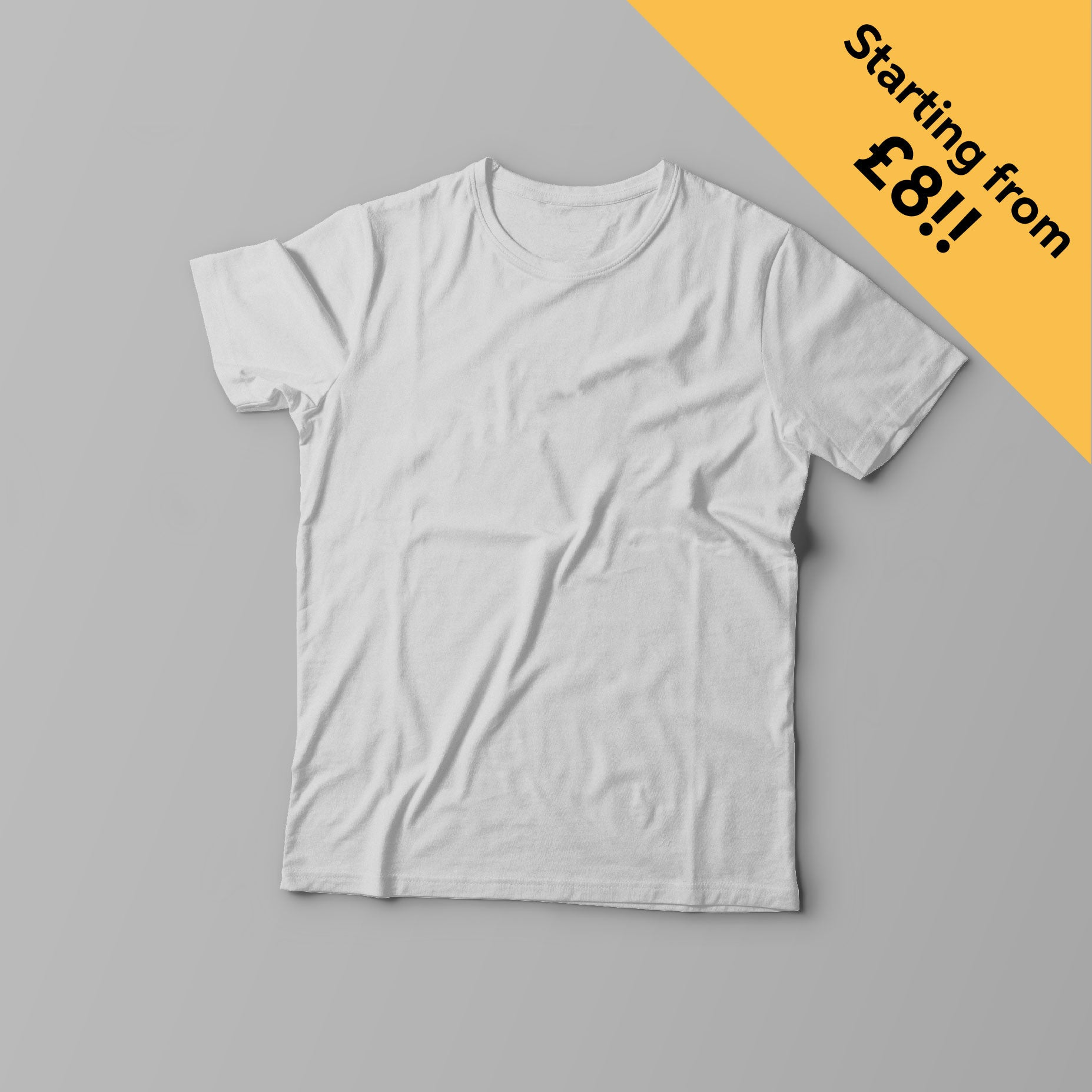 Creative Personalised Printed Designed White T-shirts Print Your Logo, Artwork, Photos Or Designs Perfect for a Birthday, Christmas Gift For The Home, Kitchen, Living Room, Bedroom, Office, Businesses, Restaurants, Pubs, Cafes, Bars And Parties Perfect Gift For Adults And Children