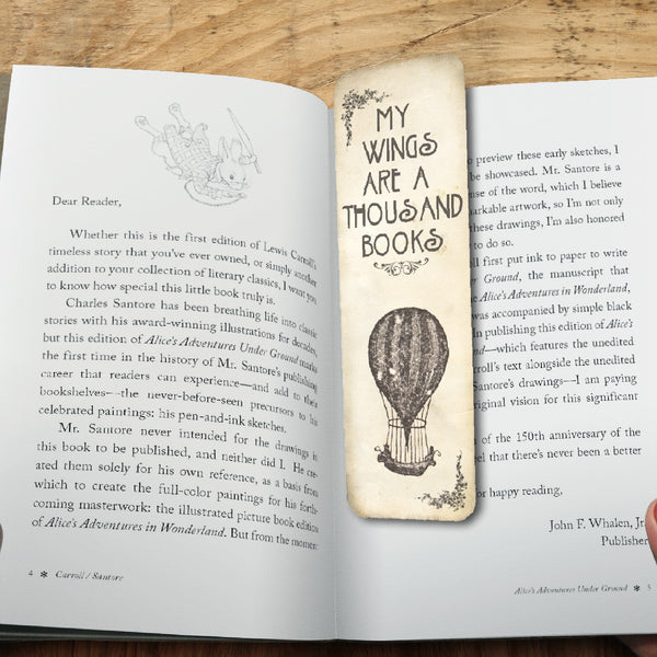 Personalised bookmarks with your design