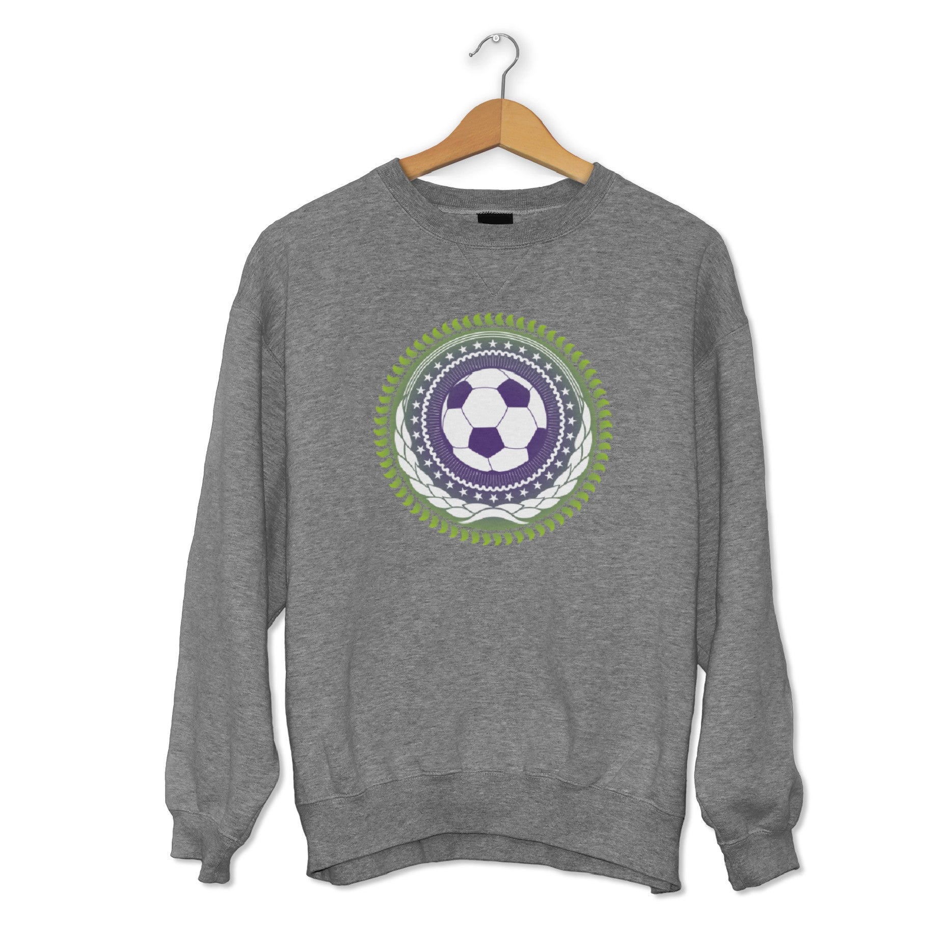 Creative Personalised Printed Designed Grey Sweatshirts Print Your Logo, Artwork, Photos Or Designs Perfect for a Birthday, Christmas Gift For The Home, Kitchen, Living Room, Bedroom, Office, Businesses, Restaurants, Pubs, Cafes, Bars And Parties Perfect Gift For Adults And Children