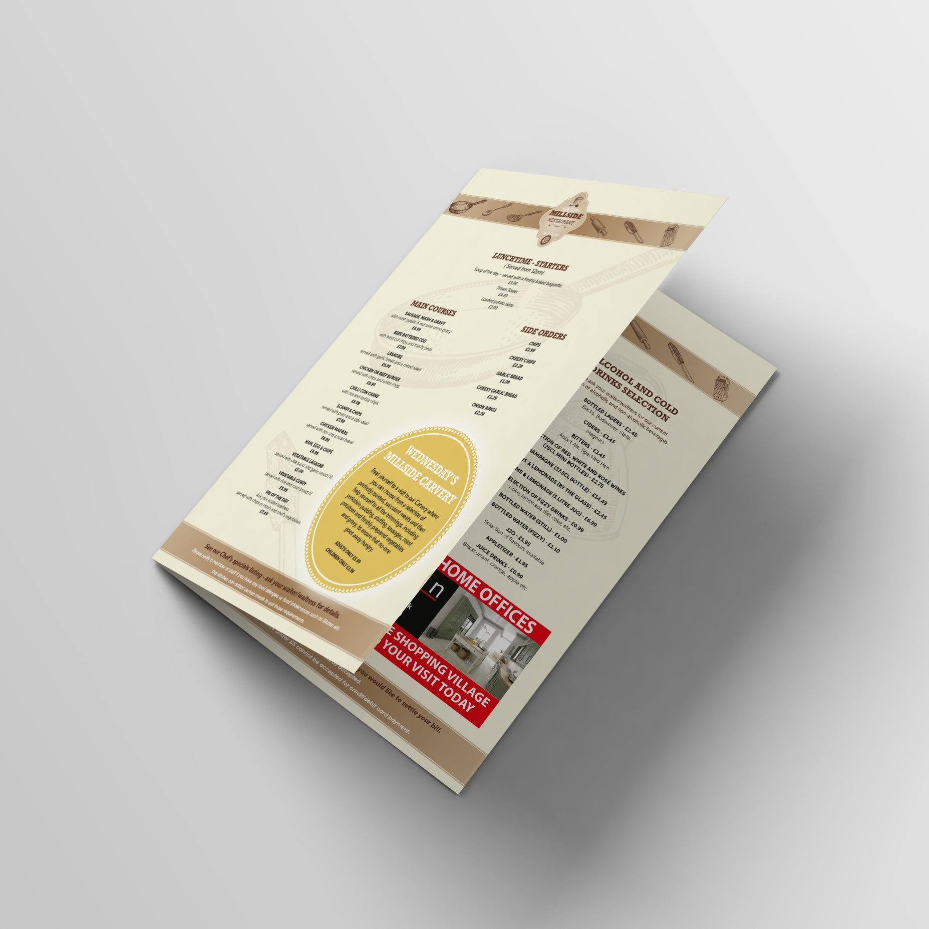 Creative Personalised Printed Designed Brochures Print Your Logo, Artwork, Photos Or Designs Perfect for  Office, Businesses, Restaurants, Pubs, Cafes, Bars And Parties