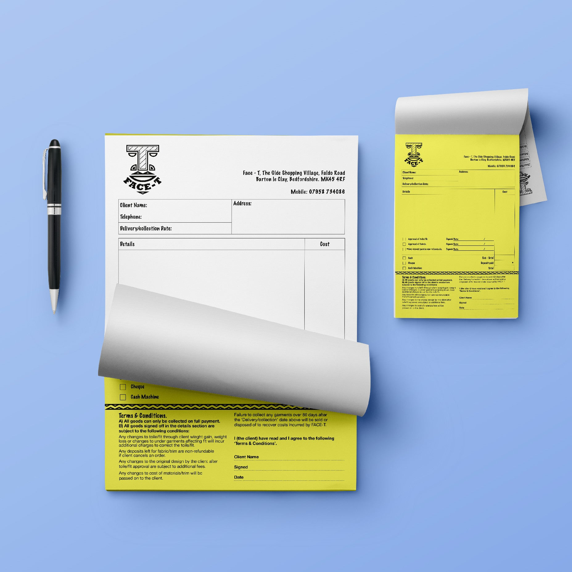 Creative Personalised NCR Pads For Home, Kitchen, Living Room, Office, Businesses, Cafe, Restaurants And Shops