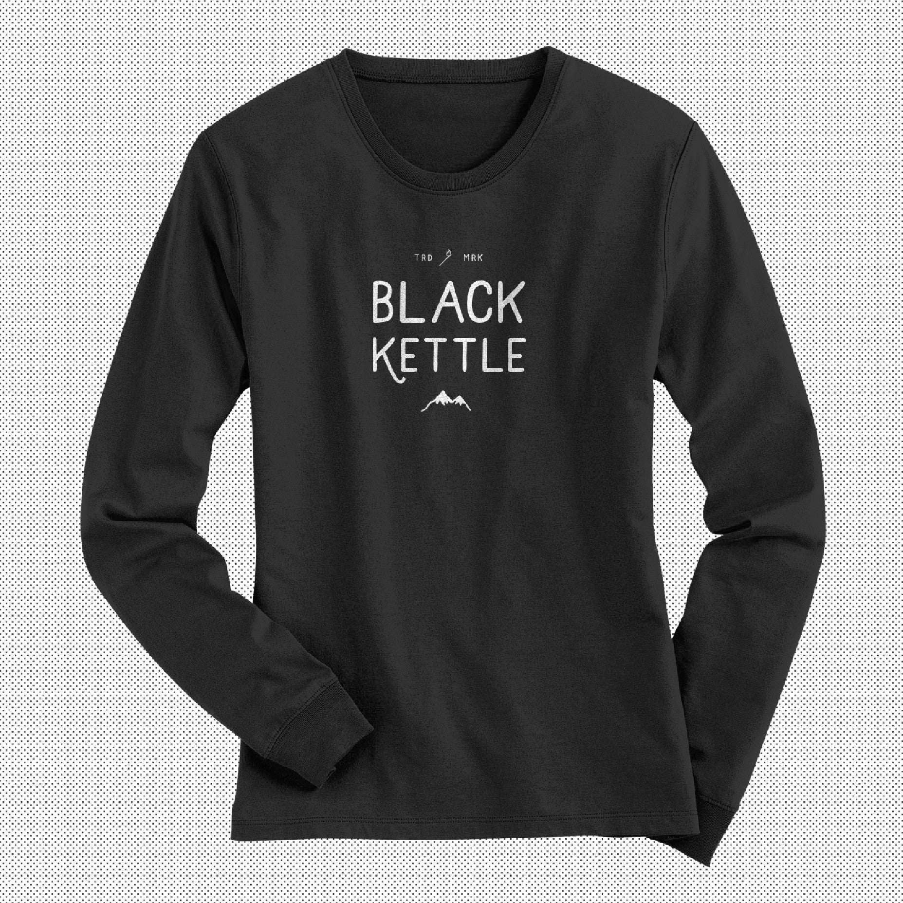 Creative Designed Personalised Design On Front Of Black Long Sleeved Womens T-shirt