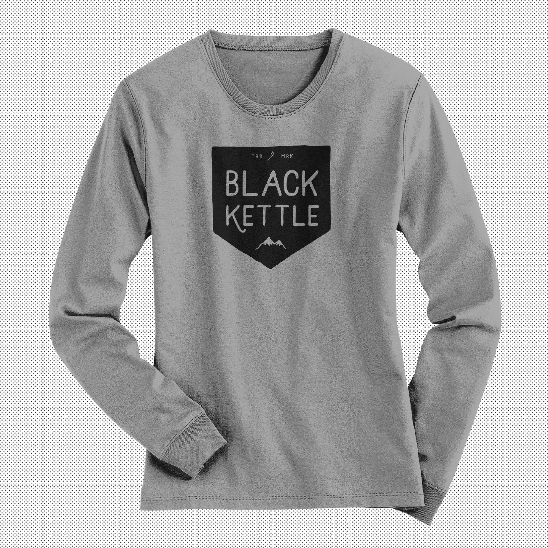 Creative Designed Personalised Design On Front Of Grey Long Sleeved Womens T-shirt