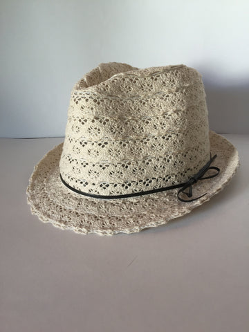 Ivory Lace Fedora with your choice of custom guitar pick message