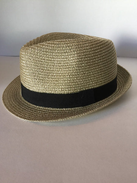 Metallic gold or silver fedora