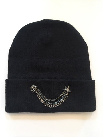 Fitted fold up rock and roll chic beanie