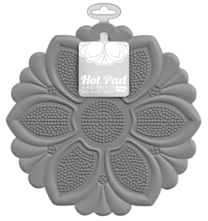 Hot Pad/Trivet, No-Slip Grip, Gray