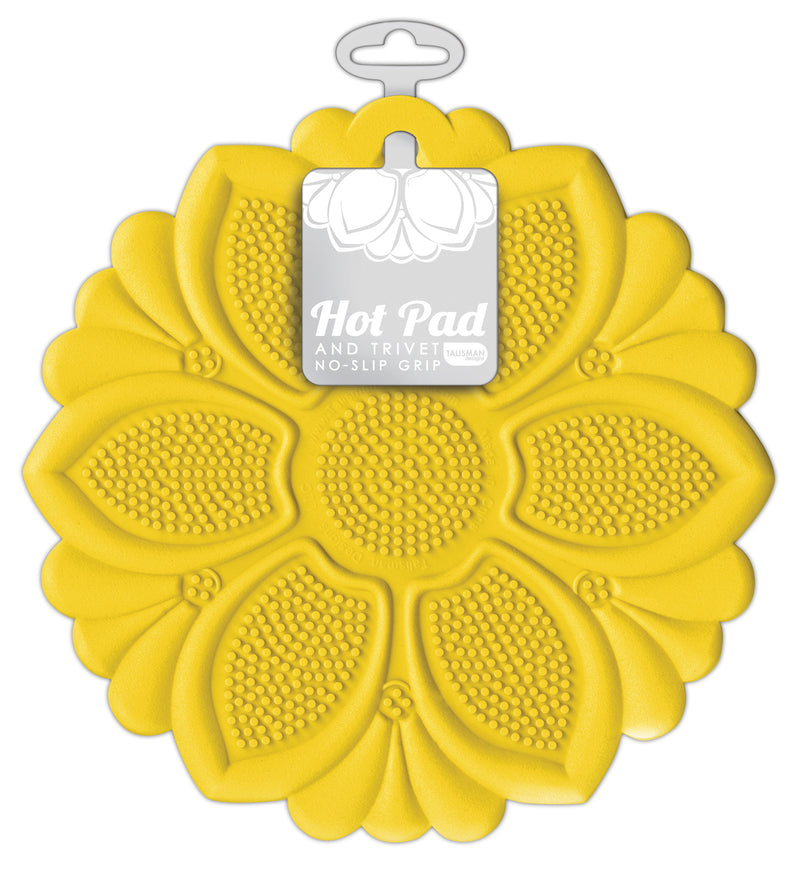 Hot Pad/Trivet, No-Slip Grip, Yellow