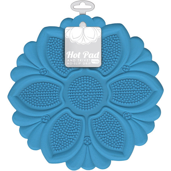 Hot Pad/Trivet, No-Slip Grip, Blue
