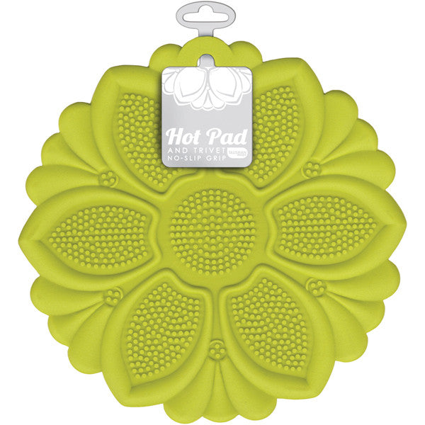 Hot Pad/Trivet, No-Slip Grip, Green