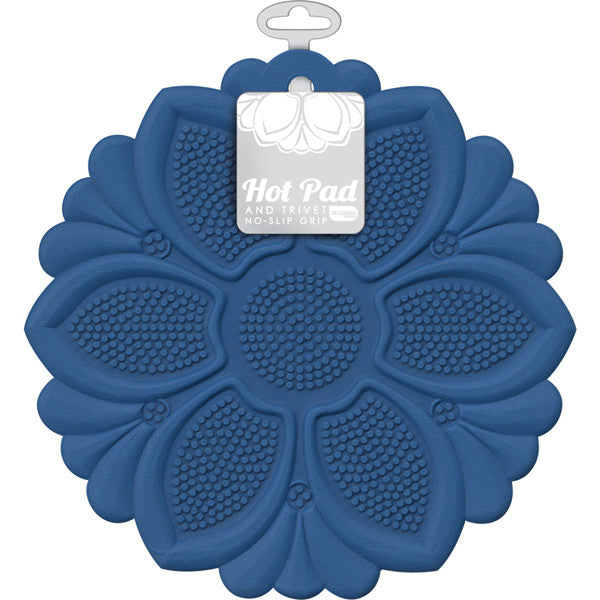 Hot Pad/Trivet, No-Slip Grip, Royal