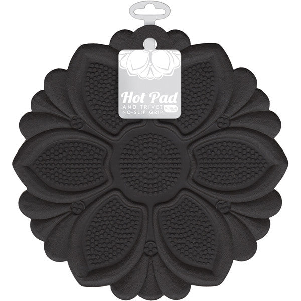Black No-Slip Grip Hot Pad/Trivet
