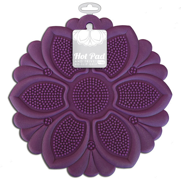 Hot Pad/Trivet, No-Slip Grip, Purple