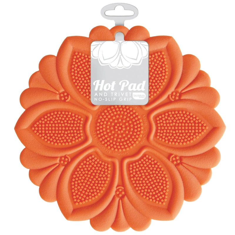 Hot Pad/Trivet, No-Slip Grip, Orange