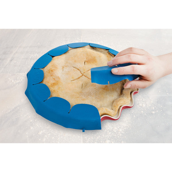 One-Piece Adjustable Rippled Pie Shield