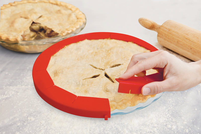 One-Piece Adjustable Pie Shield