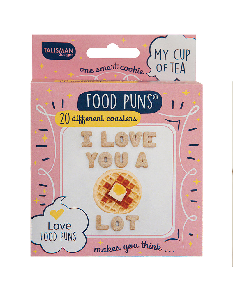 Food Puns Cardboard Coasters Love
