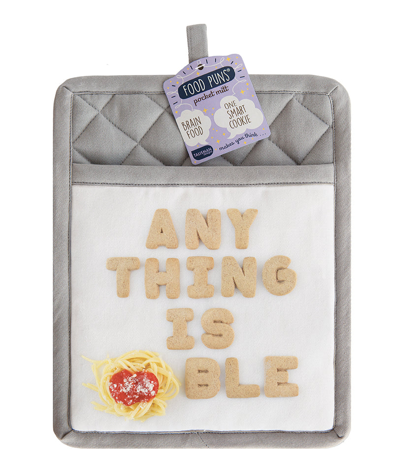 Food Puns Pocket Mitt Pasta