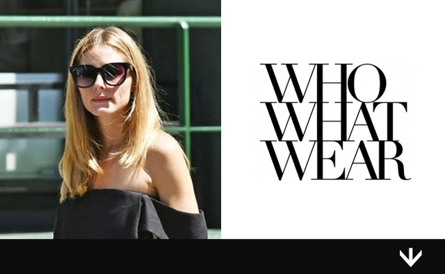 Olivia Palermo's Little Black Sunglasses are only $50