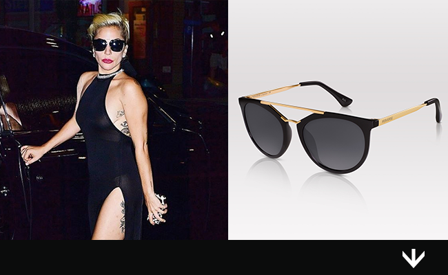 Lady Gaga Arrives at Tony Bennett's Birthday in PERVERSE Sunglasses