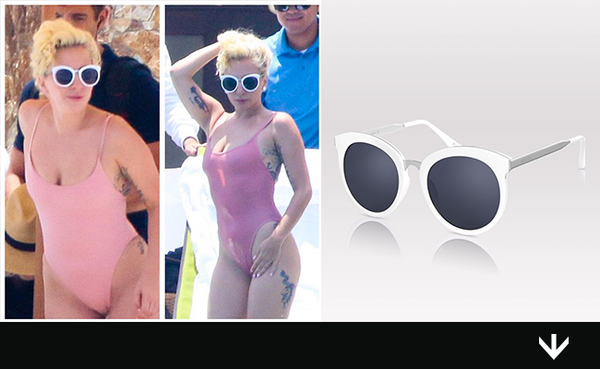 Lady Gaga Hits the Pool in Pink and PERVERSE