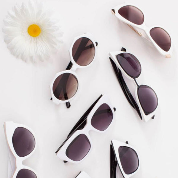 Steal the Spotlight in White Hot Sunnies